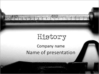 The old school typewriter PowerPoint Template