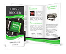 Safety First green Brochure Templates