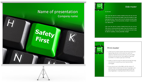 Safety First green PowerPoint Template Backgrounds ID 0000008414 – Safety Powerpoint Template