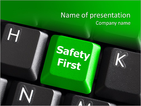 Safety powerpoint template smiletemplates safety first green powerpoint template toneelgroepblik Gallery