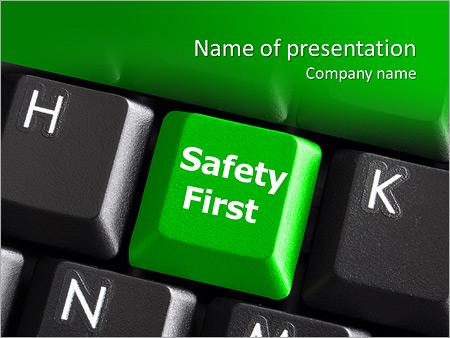 Safety First  Powerpoint Template  SmiletemplatesCom