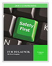 Safety First green Word Templates