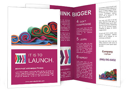 colorful fabric brochure template