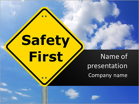 safety first powerpoint template backgrounds google slides id
