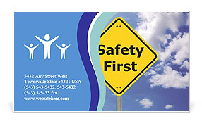 Safety First Business Card Template