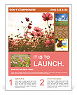 Flower field Flyer Template