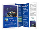 Turtle in the ocean Brochure Templates