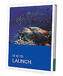 Turtle in the ocean Presentation Folder
