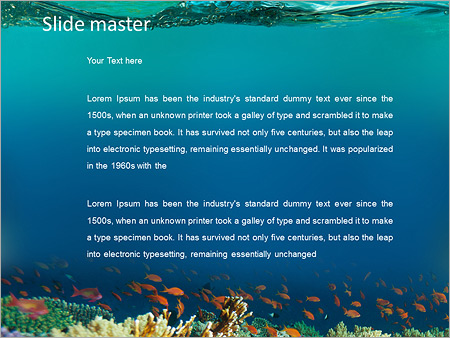 the underwater world of the ocean powerpoint template backgrounds