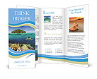 The underwater world of the ocean Brochure Templates