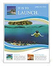 The underwater world of the ocean Flyer Templates