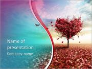 Tree heart PowerPoint Templates