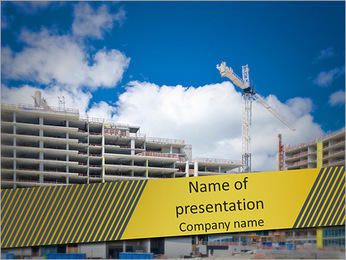 En typisk byggnad PowerPoint presentationsmallar