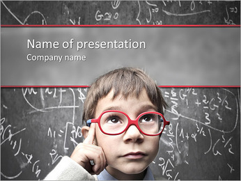 The young prodigy PowerPoint Template