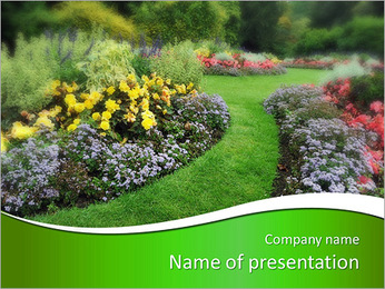 The perfect lawn PowerPoint Template