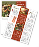 Waste products, recycling Newsletter Templates