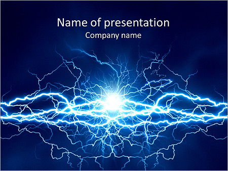 Science powerpoint templates backgrounds google slides themes electricity is all around us powerpoint template toneelgroepblik Gallery