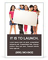 Children hold a presentation Ad Template