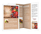 Fresh fruit Brochure Templates