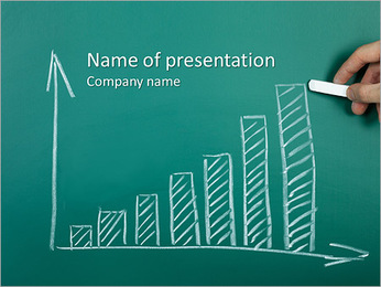 Charts on board PowerPoint Template