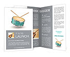 Drum set and fuzziness Brochure Templates