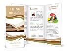 Open book with yellow pages Brochure Templates