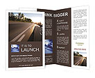 Beautiful car traveling at high speed, summer Brochure Templates