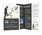 Businessman watering a money tree Brochure Templates