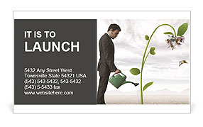 Businessman watering a money tree business card template design id businessman watering a money tree business card template colourmoves
