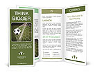 Soccer ball in the net, the goal Brochure Template