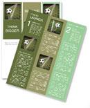 Soccer ball in the net, the goal Newsletter Template