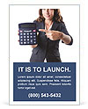Girl in a helmet holding a calculator Ad Template