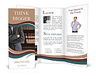 The body of businessman with folded arms Brochure Templates