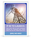 Very high high-voltage tower Ad Template