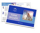 Very high high-voltage tower Postcard Template