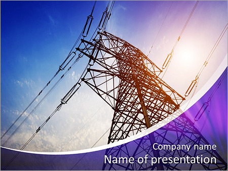 Very high high voltage tower powerpoint template backgrounds id very high high voltage tower powerpoint template toneelgroepblik Gallery