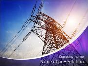 Very high high-voltage tower PowerPoint Templates