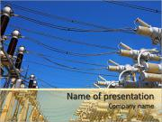 Power lines PowerPoint Templates