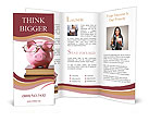 Toy pig with glasses Brochure Templates