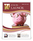 Toy pig with glasses Flyer Template