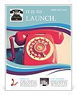 Retro Red Telephone Flyer Template