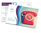 Retro Red Telephone Postcard Templates