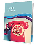 Retro Red Telephone Presentation Folder
