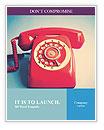 Retro Red Telephone Word Templates