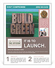 The words build green Flyer Templates