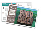 The words build green Postcard Template