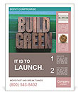 The words build green Poster Template