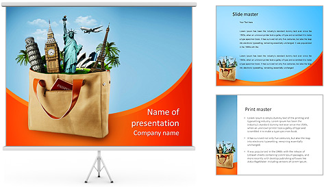 All travel in one bag travel agency PowerPoint Template – Powerpoint Flyer Template