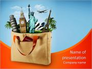 All travel in one bag, travel agency PowerPoint Templates
