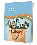 All travel in one bag, travel agency Presentation Folder
